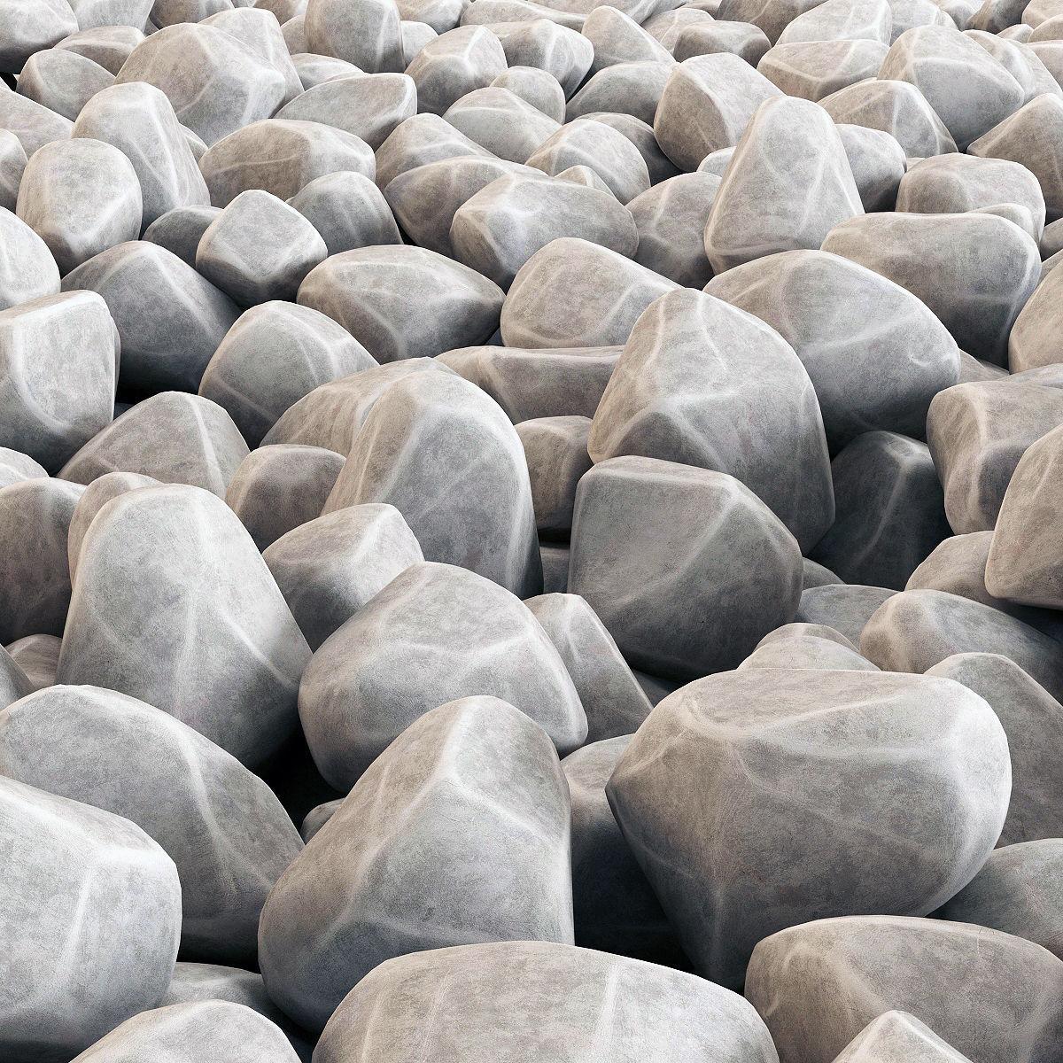 Gravel stone 3D | CGTrader on Granite Models  id=35536