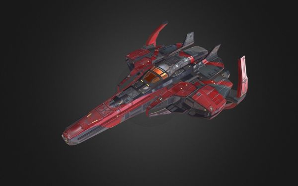 Spaceship Fighter 3D model | CGTrader