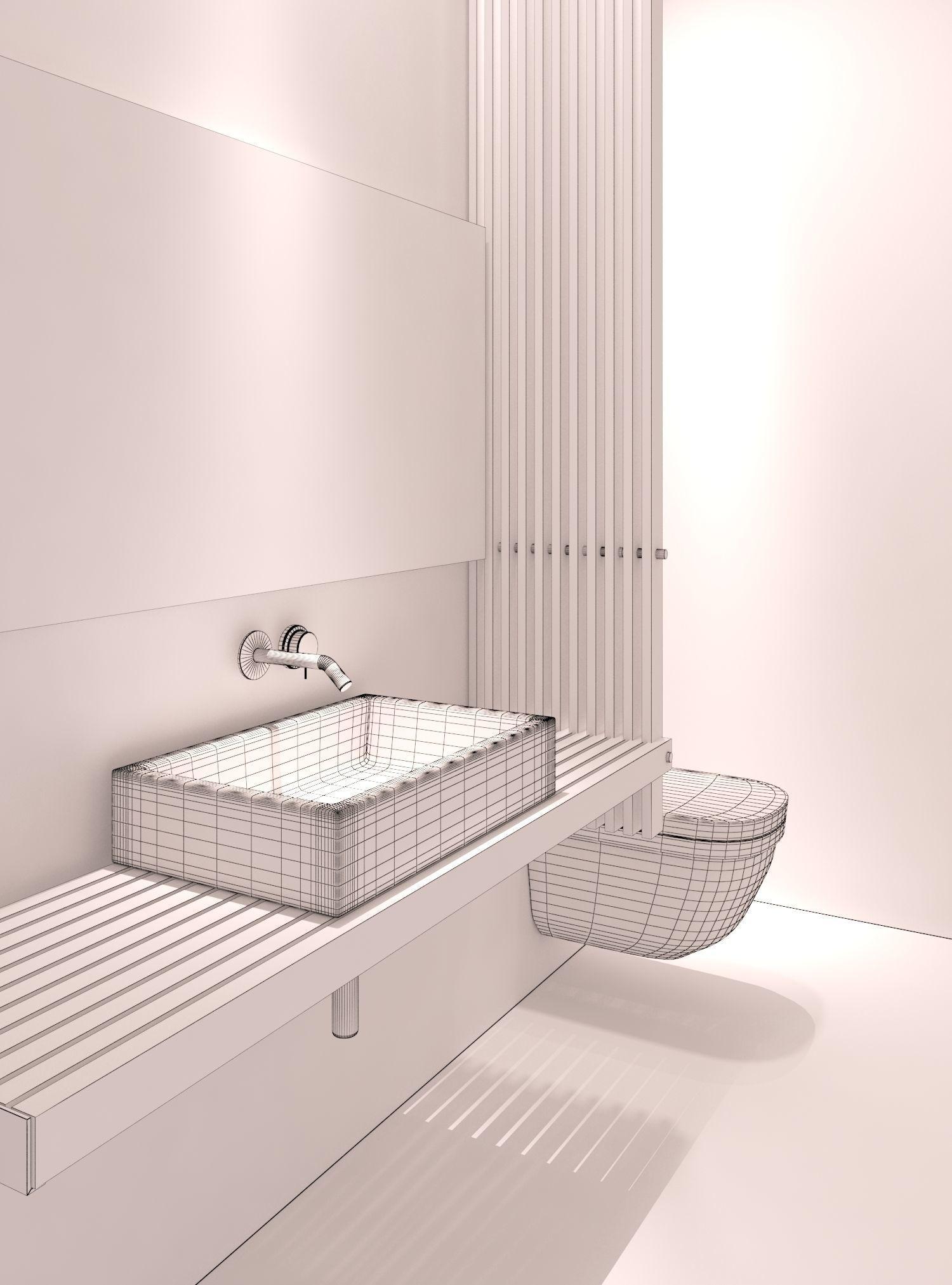 Modern Bathroom 3D Model MAX FBX | CGTrader.com on Bathroom Models  id=20226