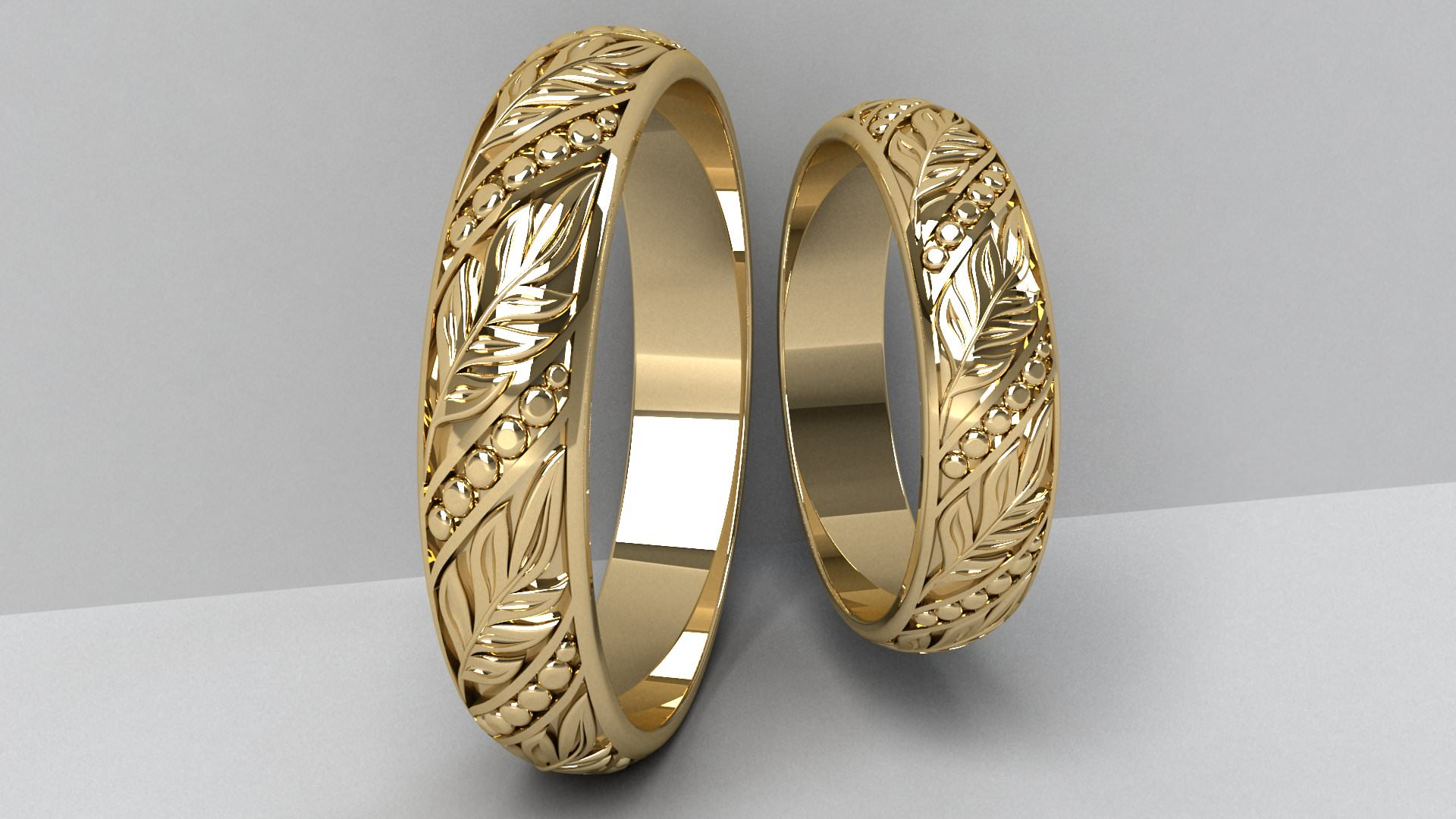 Wedding Rings 5 3D Model 3D Printable Stl