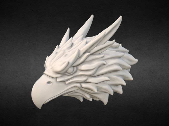 Griffin Head Eagle Head 3D Printable Model CGTrader
