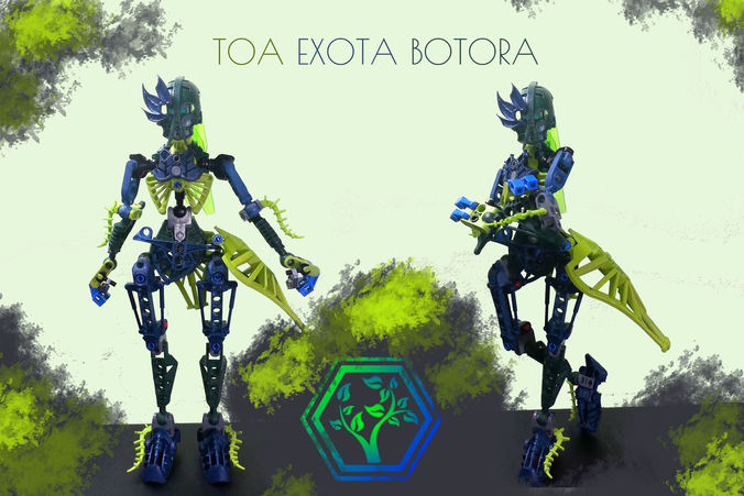 Custom Bionicle Toa Exota Botora Parts 3D Printable Model