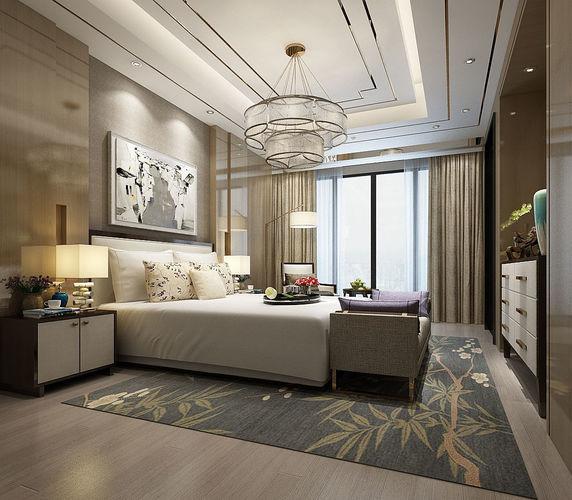 Deluxe master bedroom design 45 3D model | CGTrader on Model Bedroom Design  id=78738