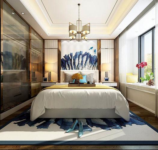 Stylish master bedroom design 11 3D model   CGTrader on New Model Bedroom Design  id=54820
