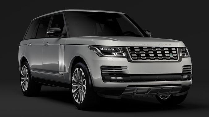 3D Model Range Rover Vogue SE LWB L405 2018 CGTrader