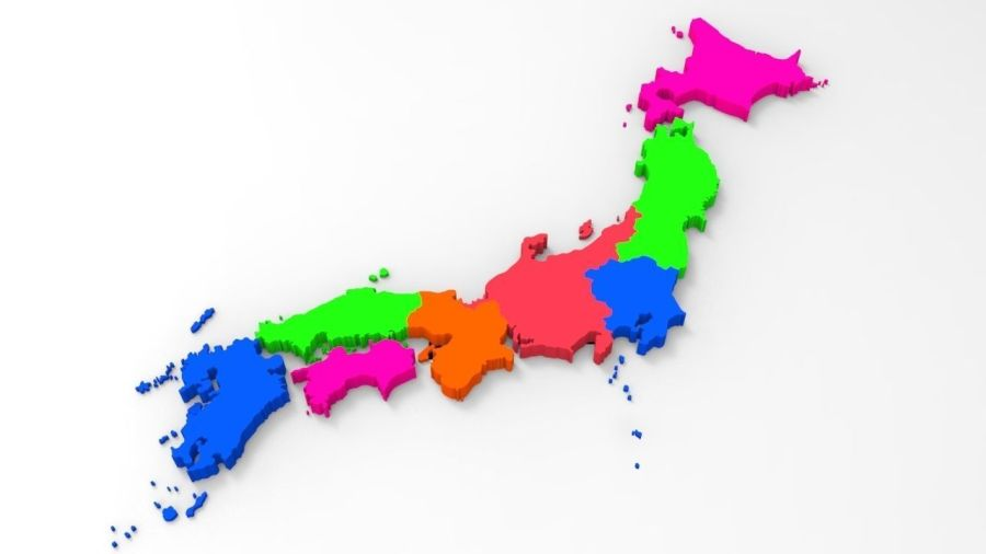 Japan Map With Its All Regions 3D model   CGTrader     japan map with its all regions 3d model obj fbx stl dwg mtl 3
