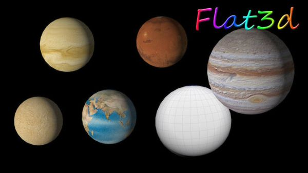 Solar System Planets 3D Model Game ready fbx CGTradercom