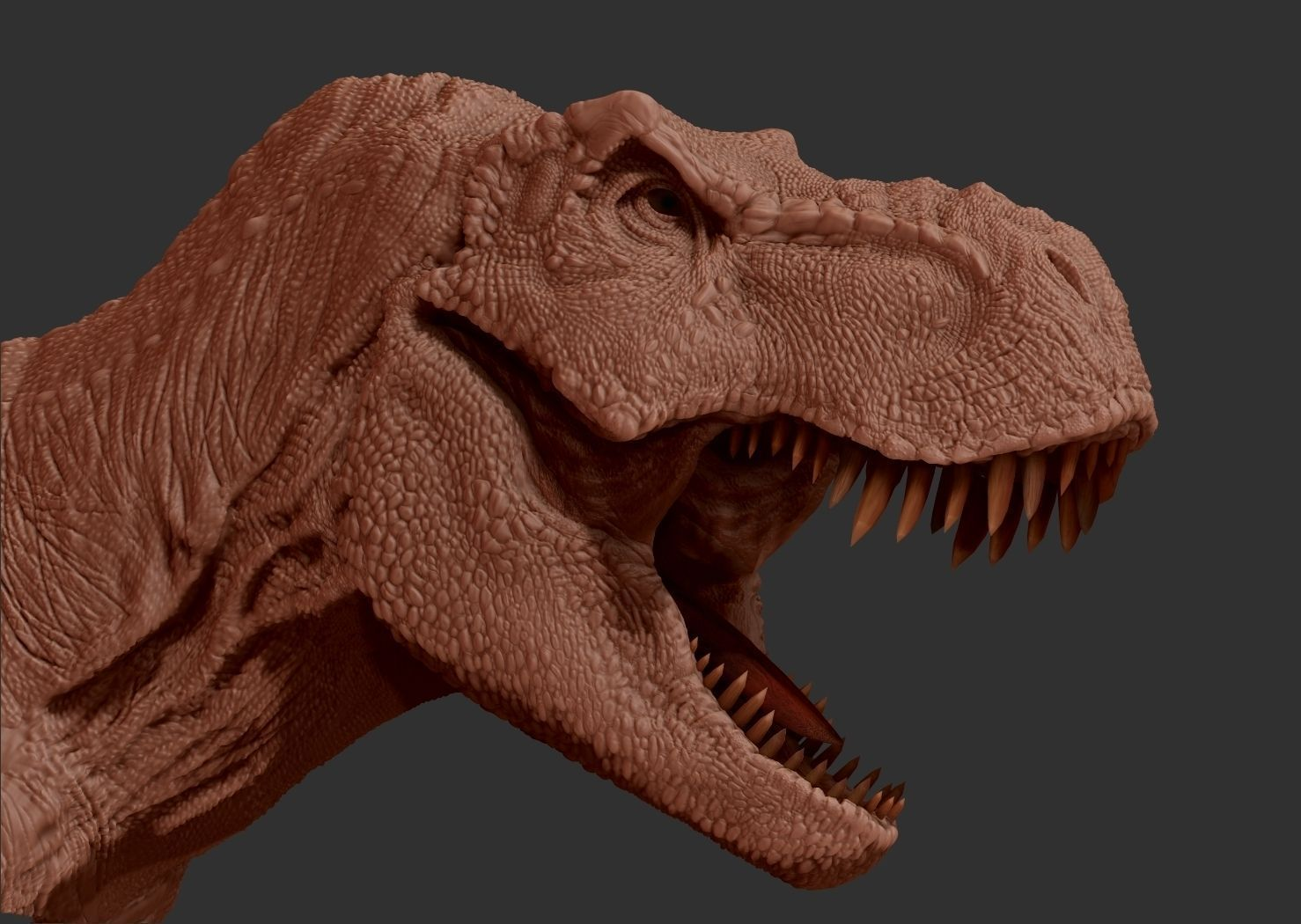 T Rex 3d Model Game Ready Obj Fbx L A