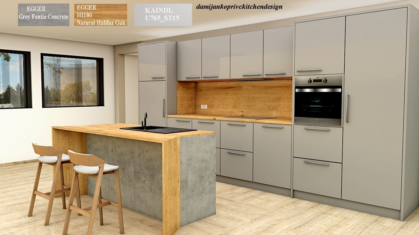 3D model modern kitchen with island | CGTrader on Model Kitchen Images  id=22430
