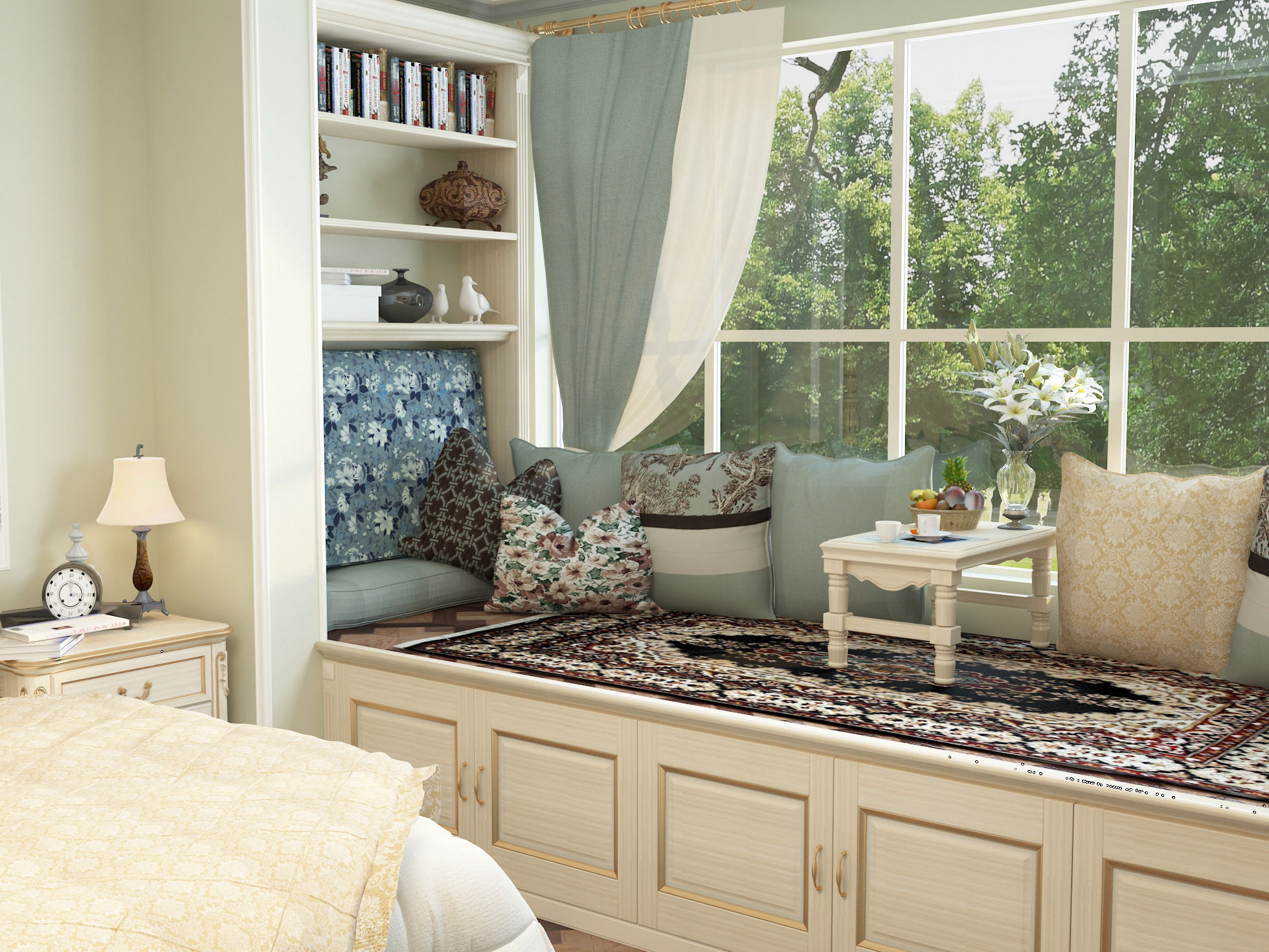 New classicism style with cloakroom large bedroom 3D Model ... on New Model Bedroom  id=26951