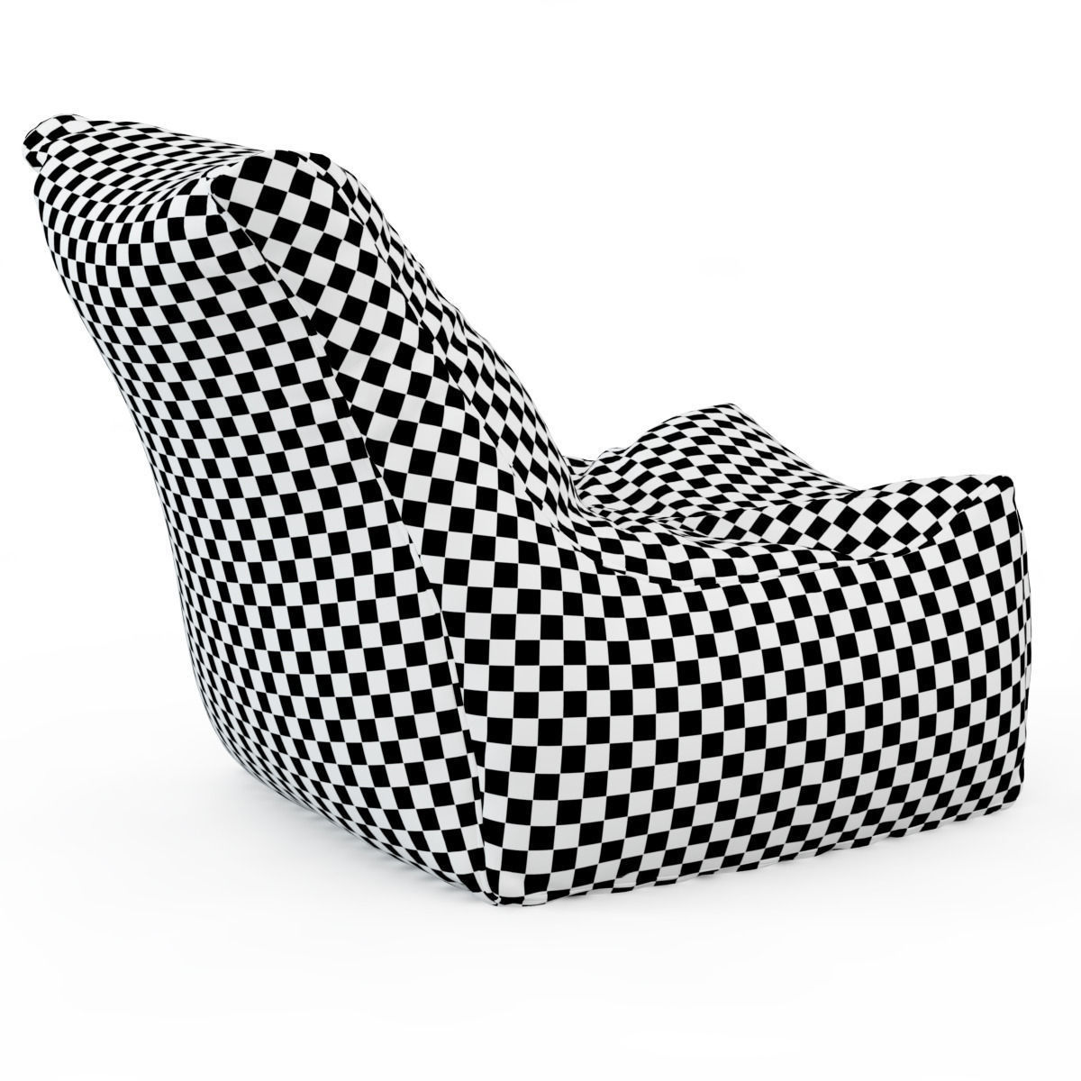 Style Homez Royal Blue Chair Bean Bag 3d Model Max