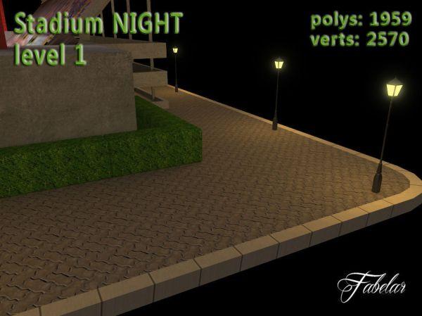 3D model Stadium Level 1 Day-Night VR / AR / low-poly MAX ...