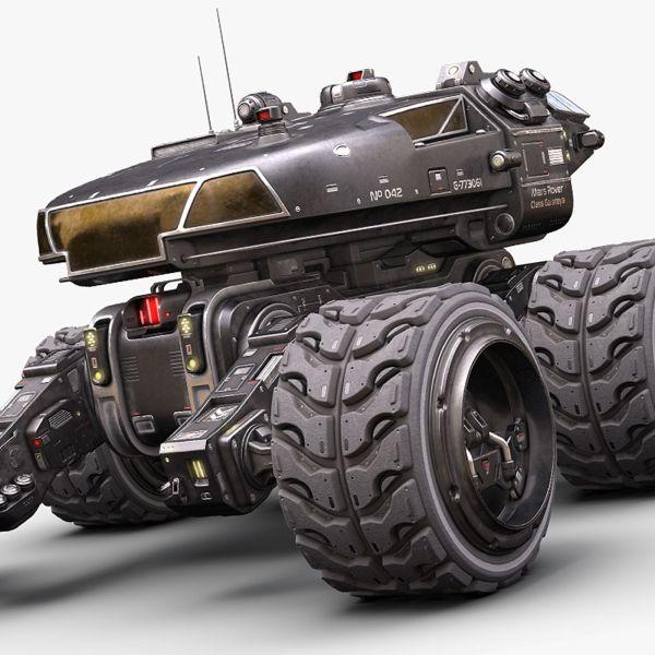 colonization 3D Mars Rover | CGTrader
