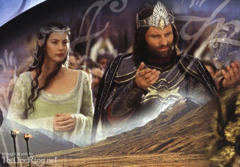 Arwen And Aragorn - Queen And King Of Gondor - 800x556, 100kB