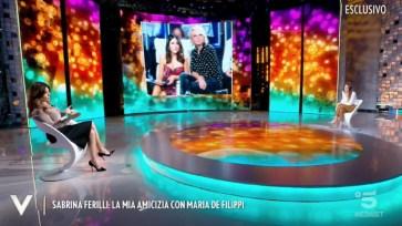 """Quando Sabrina Ferilliraccontò la sua amicizia con Maria De Filippi: """"E' un diavolo di amica"""""""
