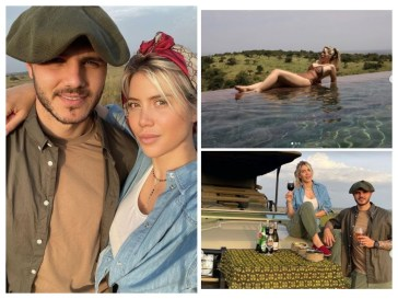 "Wanda Nara selvaggia con Mauro Icardi: ""La mia Africa"""
