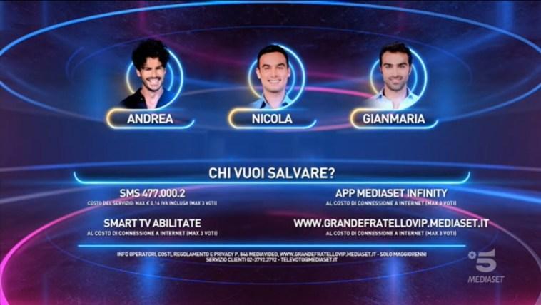 """""""Grande Fratello Vip"""", i nominati della quinta puntata: Andrea Casalino, Nicola Pisu e Gianmaria Antinolfi"""