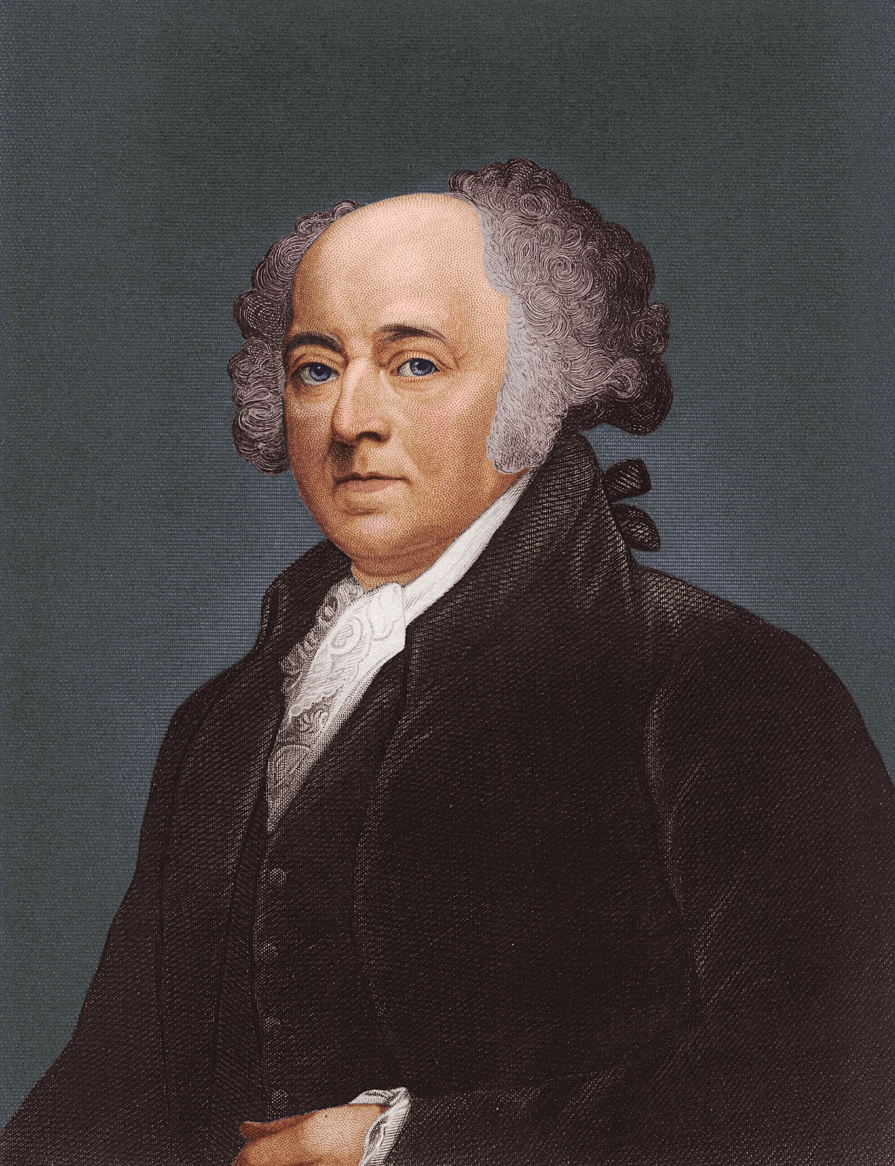 John Adams (1735 - 1826), second president of the United States of America.