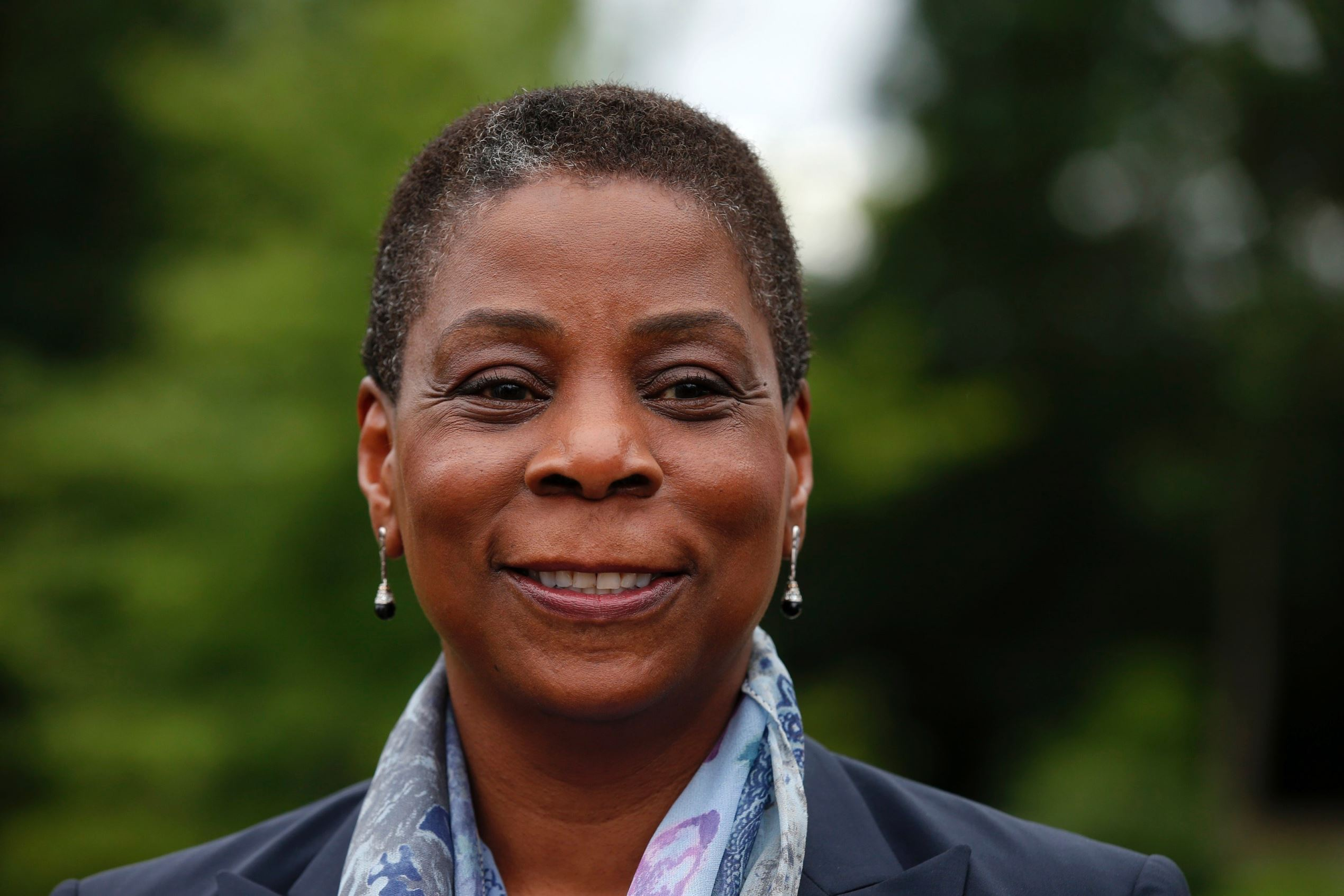Ursula Burns, CEO of Xerox, attends the French employers' body MEDEF union summer forum in Jouy-en-Josas, France, in 2014. REUTERS/Benoit Tessier (FRANCE - Tags: BUSINESS HEADSHOT)