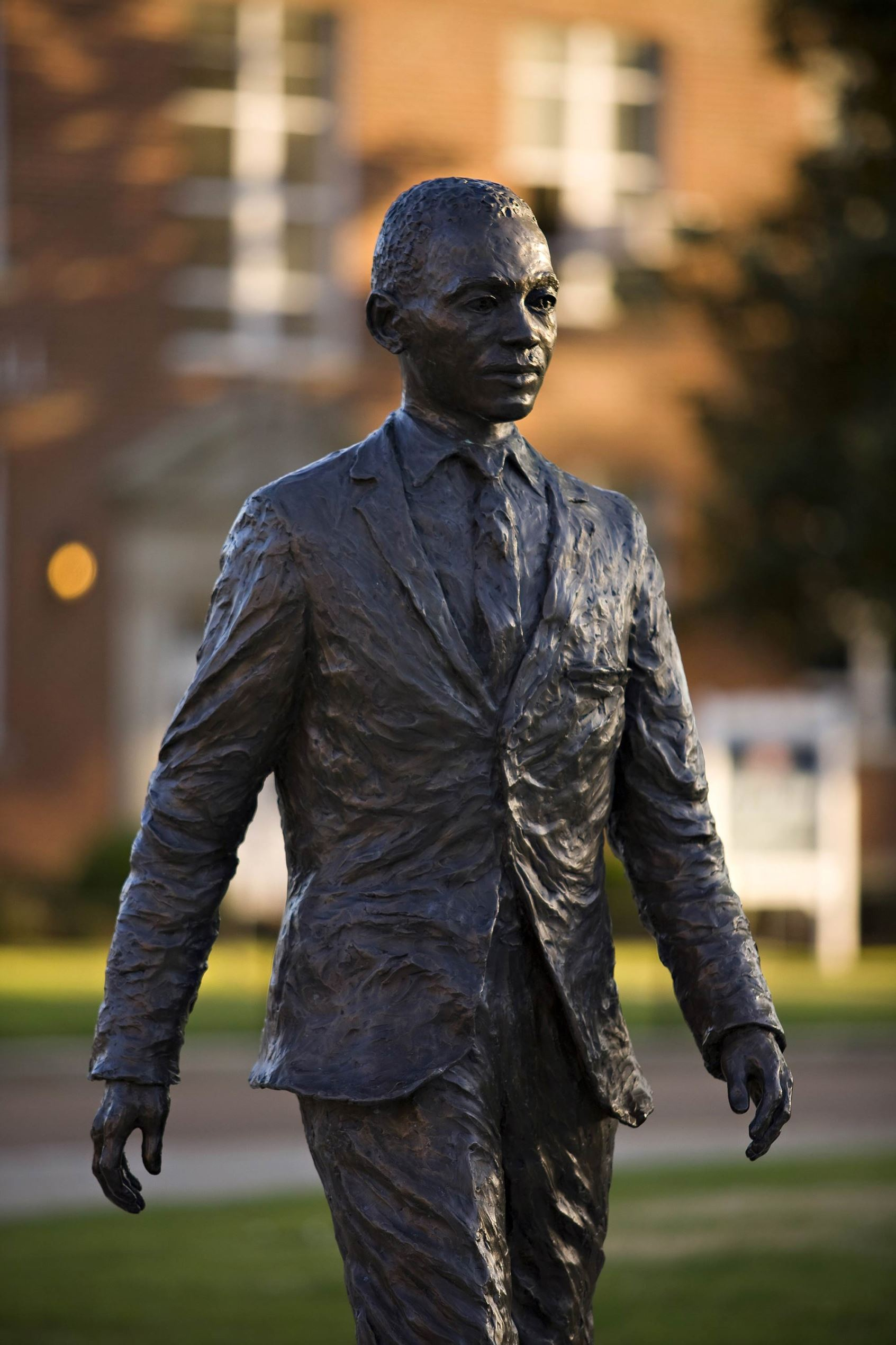 James H. Meredith statue on the campus of the University of Mississippi.