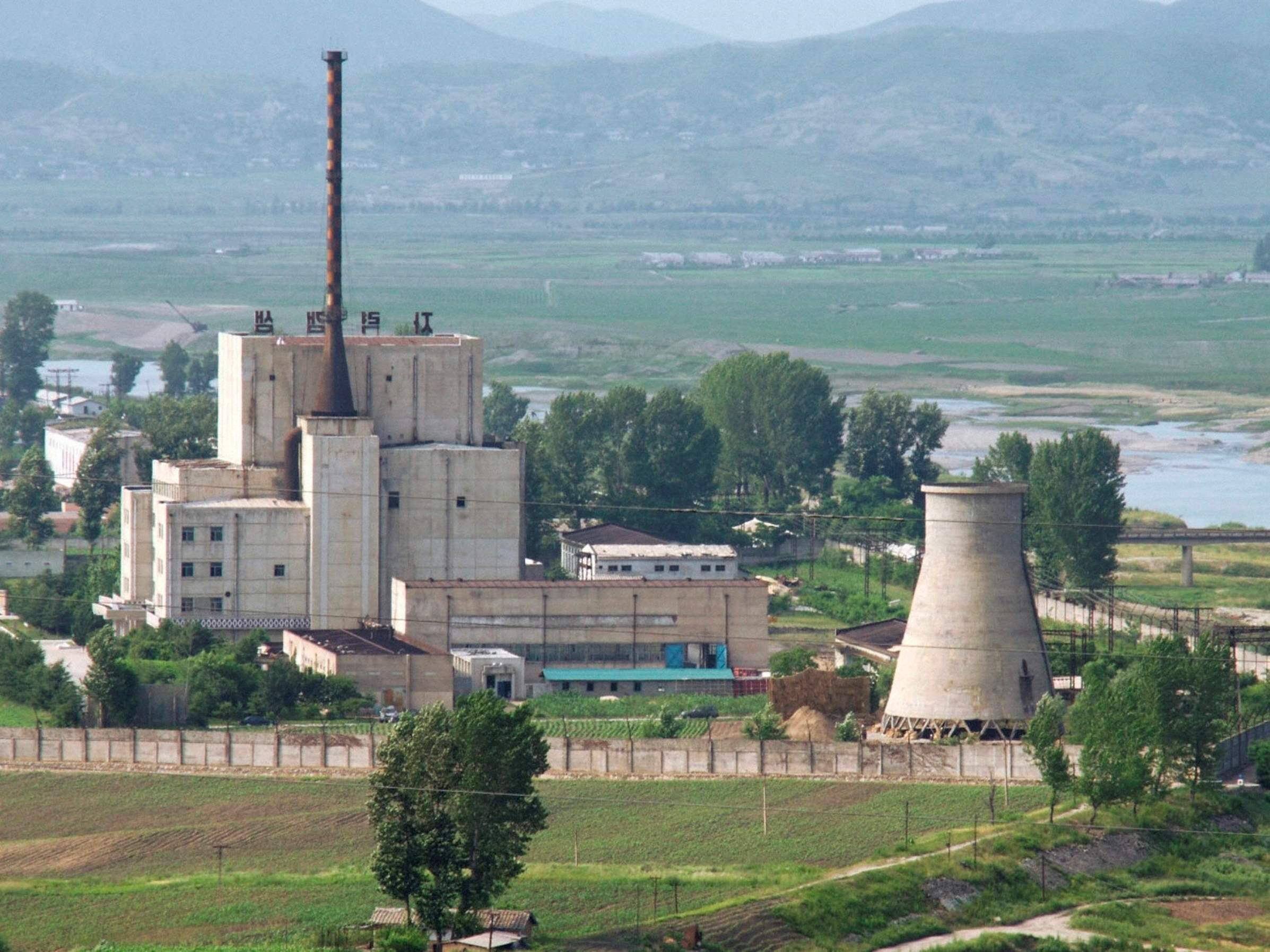 A North Korean nuclear plant is seen in Yongbyon, in this photo taken June 27, 2008 and released by Kyodo.
