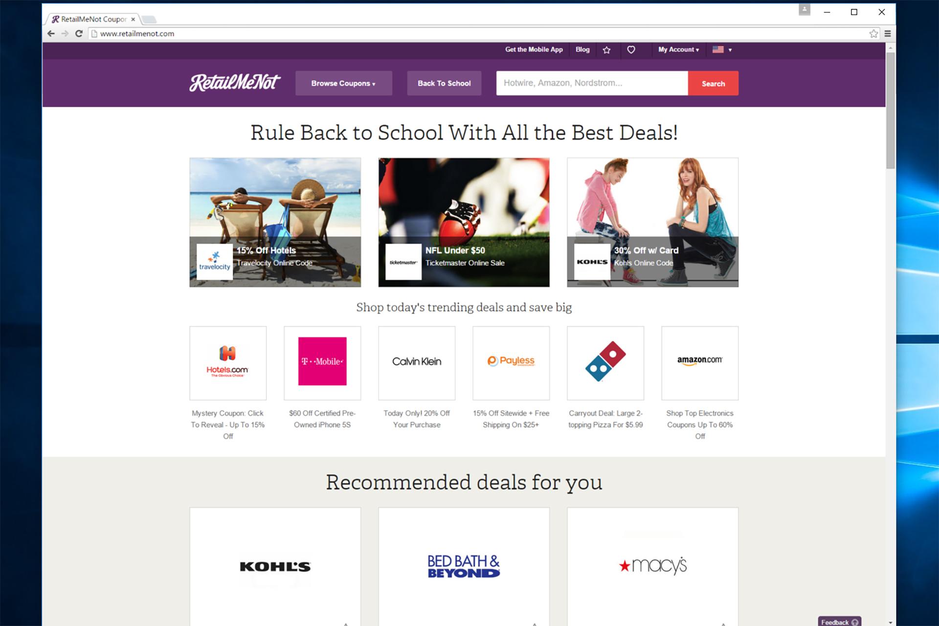 RetailMeNot.com web site.