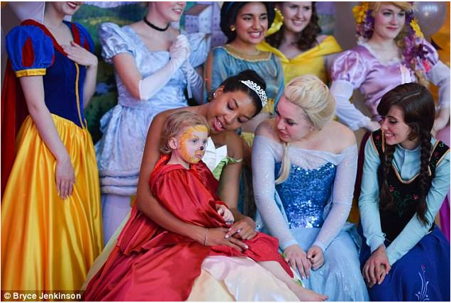 Lila With Disney Princesses