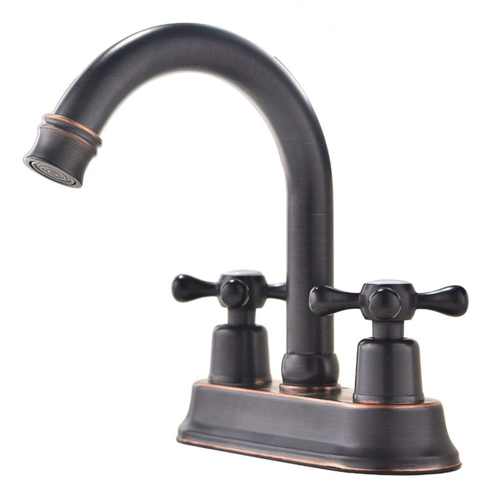 ufaucet modern oil rubbed bronze 2 handle centerset stainless steel bathroom faucet oil rubbed bronze bathroom sink faucet