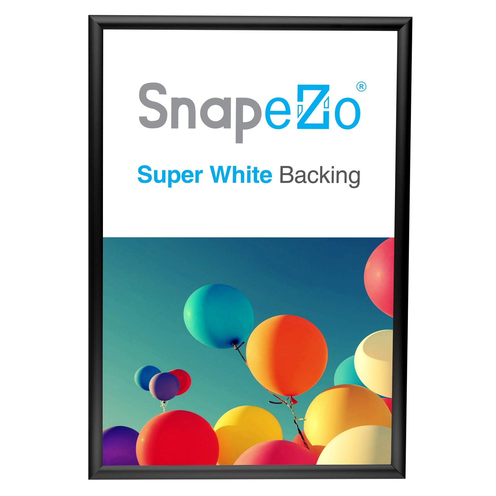 snapezo poster frame 20x30 inches black 1 inch aluminum profile front loading snap frame wall mounting sleek series