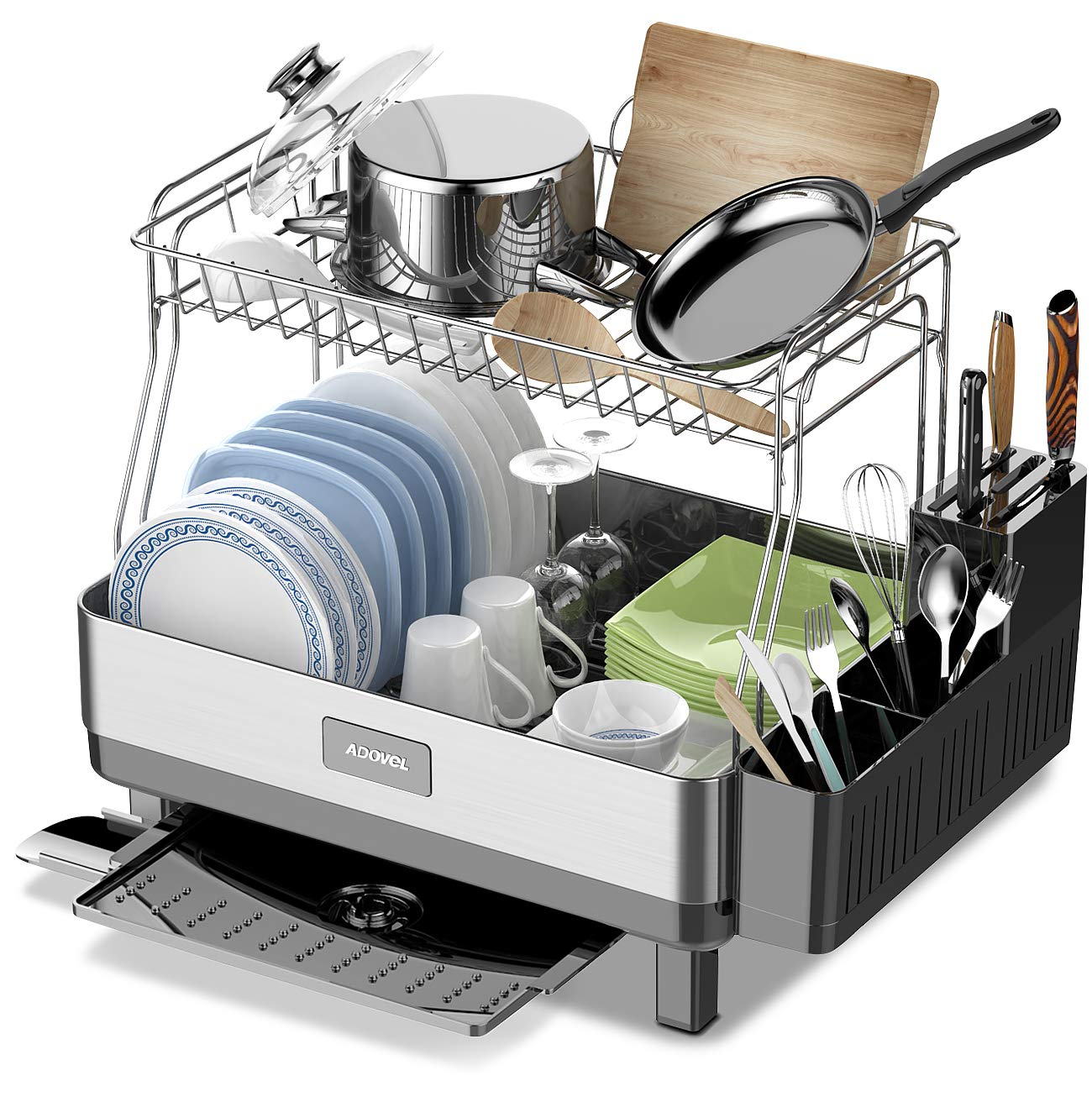 adovel dish drying rack and drainboard