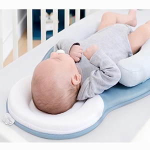 unisex infant support newborn lounger pillow comfort newborn baby nest portable snuggle bed mattress prevent flat head pillow head support for 0 6m