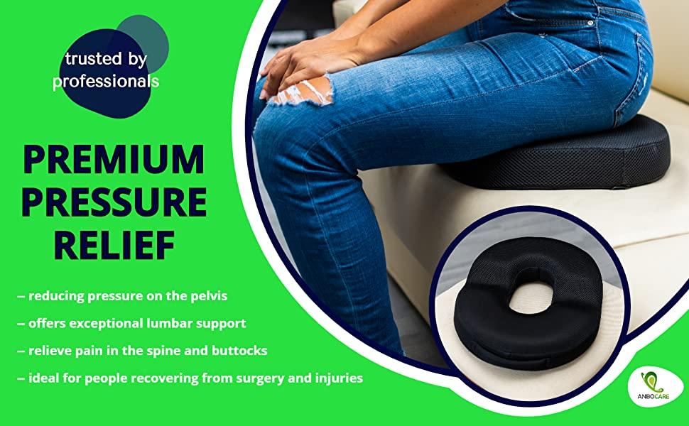 donut pillow tailbone hemorrhoid seat cushion memory foam butt pillow relief postpartum prostate coccyx pain sciatica hemmoroid pregnancy and