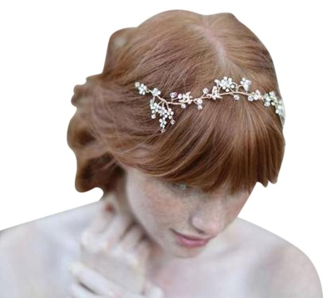 bhldn crystals delicate bridal headpiece hair accessory 44% off retail