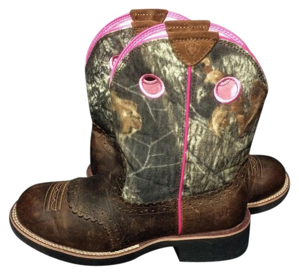 Camo Cowgirl Green Boots