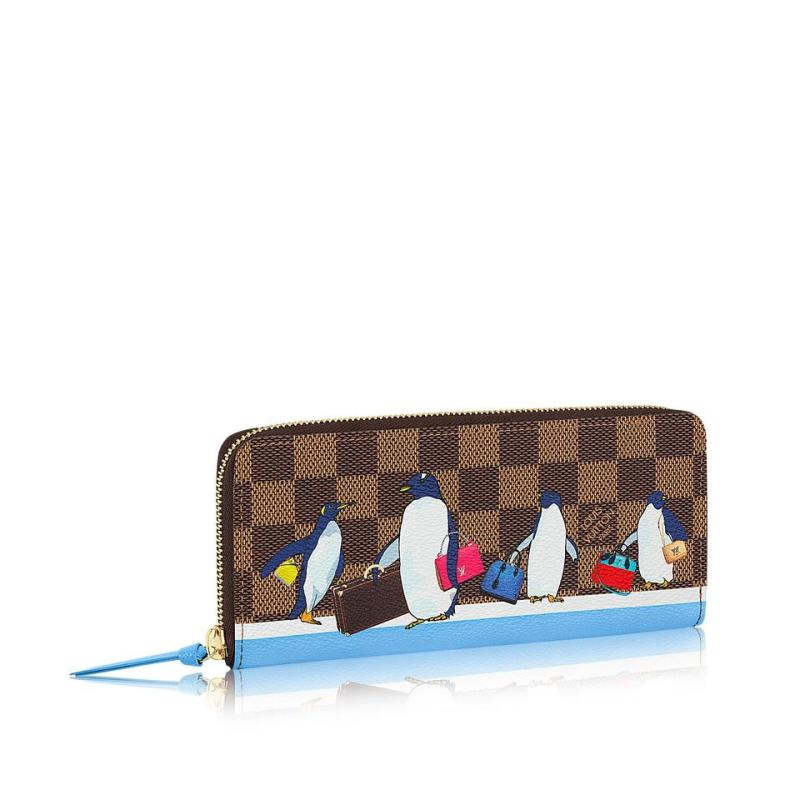 19b66648d67d Louis Vuitton Damier Ebene Clemence 2017 Christmas Animation