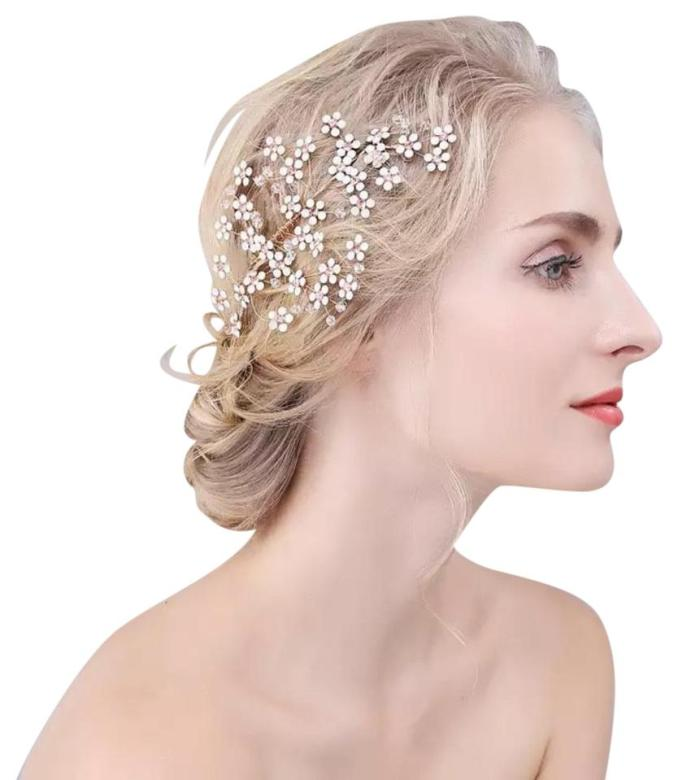 romantic bendable vin bridal wedding crystal bling tiara wedding bride prom bling e hair accessory 56% off retail