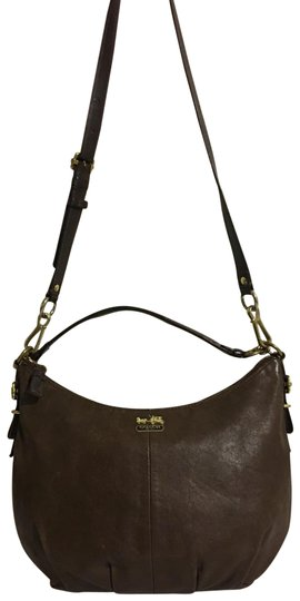 crossbody dark handbag brown leather shoulder bag
