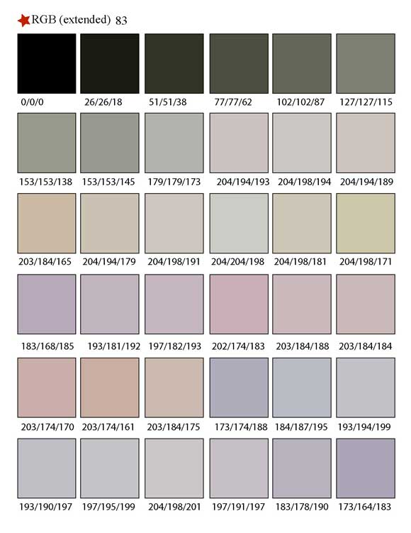 Printable RGB Color Palette Swatches - My Practical Skills ...