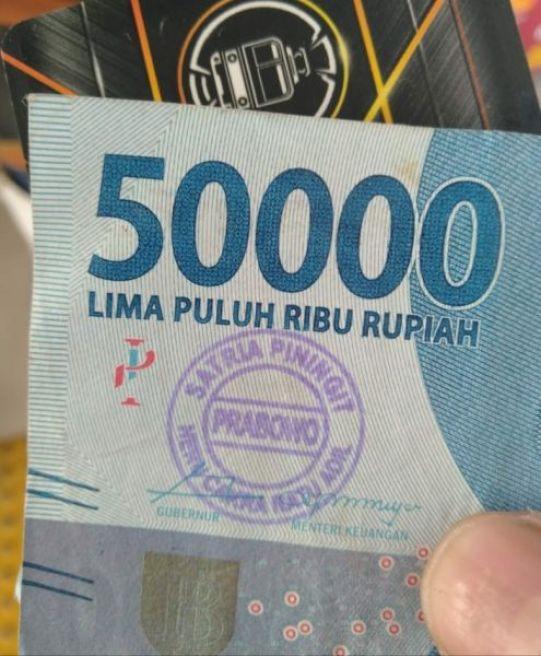 Uang Berstempel Prabowo Jelang Pilpres 2019 (Ist)