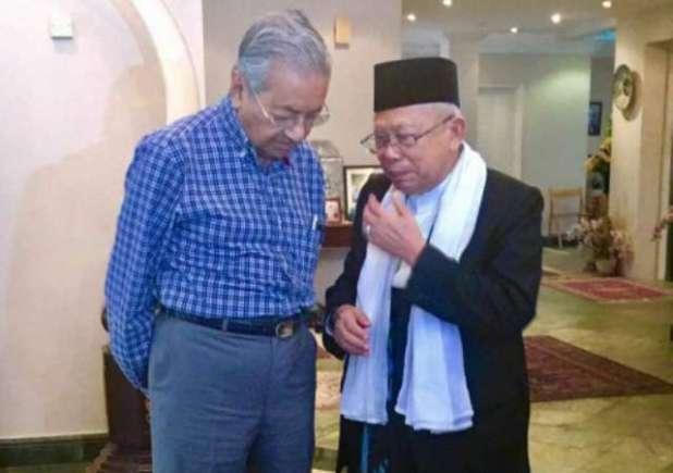 Ma'ruf Amin bertemu Mahathir Muhammad