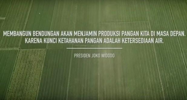 Iklan Bendungan di Era Pemerintahan Jokowi (foto: Youtube/Presiden Joko Widodo)