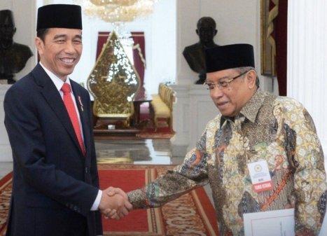 Presiden Jokowi dan KH Said Aqil Siradj. (Foto: Biro Pers Setpres)