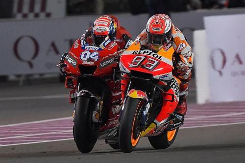Dovizioso vs Marquez di MotoGP Qatar 2019