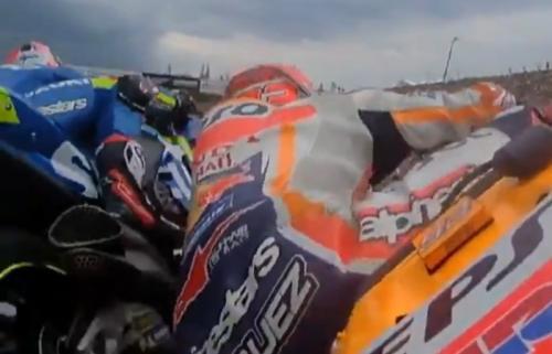Insiden Marquez dan Rins di Sirkuit Brno
