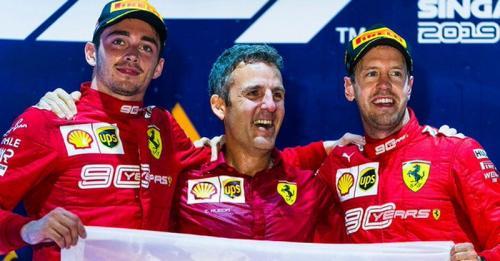 Charles Leclerc dan Sebastian Vettel