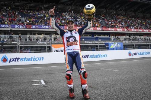 Marc Marquez merebut gelar juara kedelapannya musim ini (Foto: MotoGP)