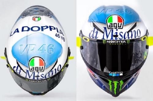 Desain helm Valentino Rossi