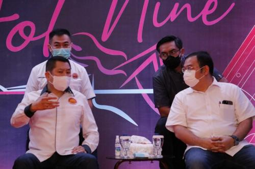 Hary Tanoesoedibjo meresmikan Hot Nine (Foto: MNC Media)