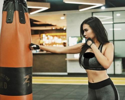 Maria Vania di gym (Foto: IG/@maria_vaniaa)