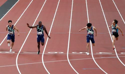 Justin Gatlin saat ikuti tes persiapan Olimpiade Tokyo 2021